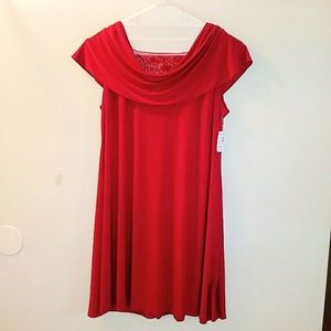 Dress Barn Collection plus size 24 red dress